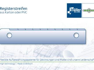 Registerstreifen aus Karton oder PVC