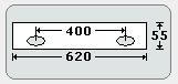 Selbstklebende Aufhängestreifen in passenden Längen geschnitten für Formate