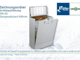 Zeichnungsordner Holzausführung DIN A0 400mm